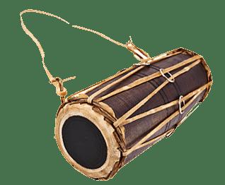 Winti drum gebruikt door een bonuman / obiaman voor de fodu winti
